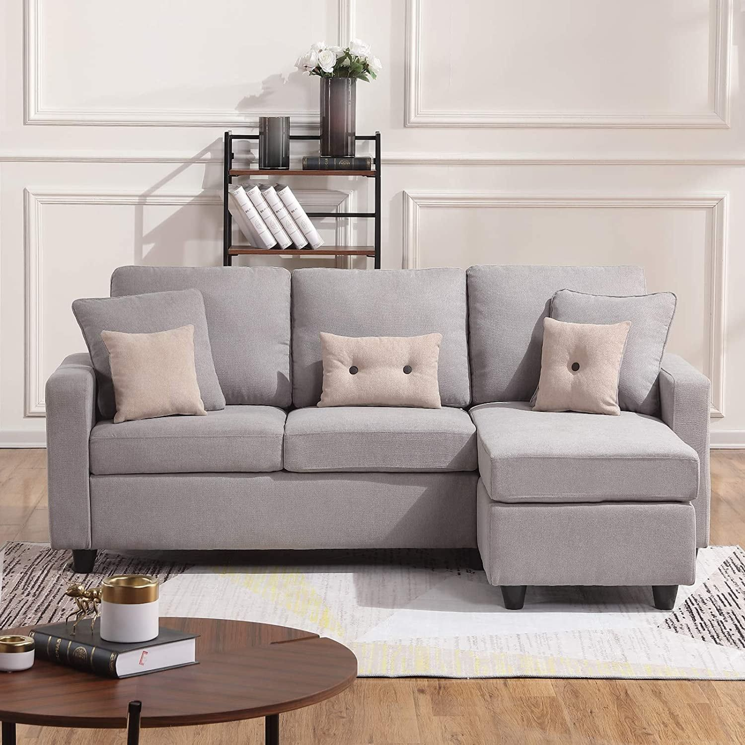 This Comfy Sectional Sofa Also Turns Into A Bed And Fits Perfectly In Small Apartments Couches For Small Spaces Sofas For Small Spaces Living Room Decor Apartment