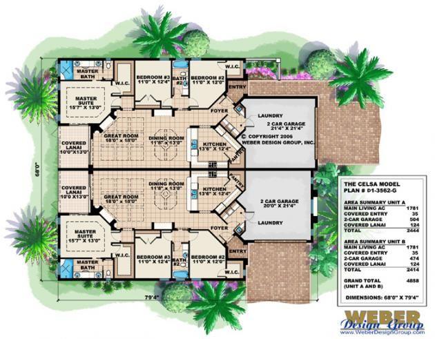 Duplex Plan Real Estate Pinterest Duplex House Plans