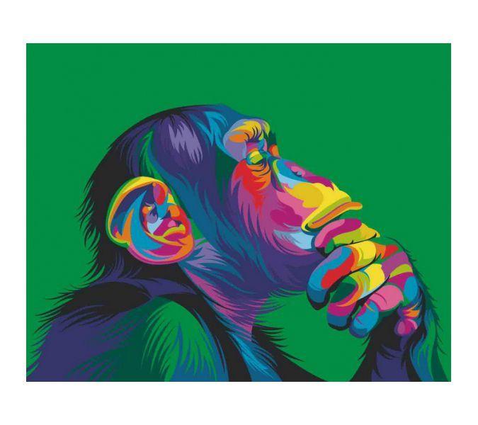 """Раскраска по номерам Артвентура """"Радужная обезьяна Ваю ..."""