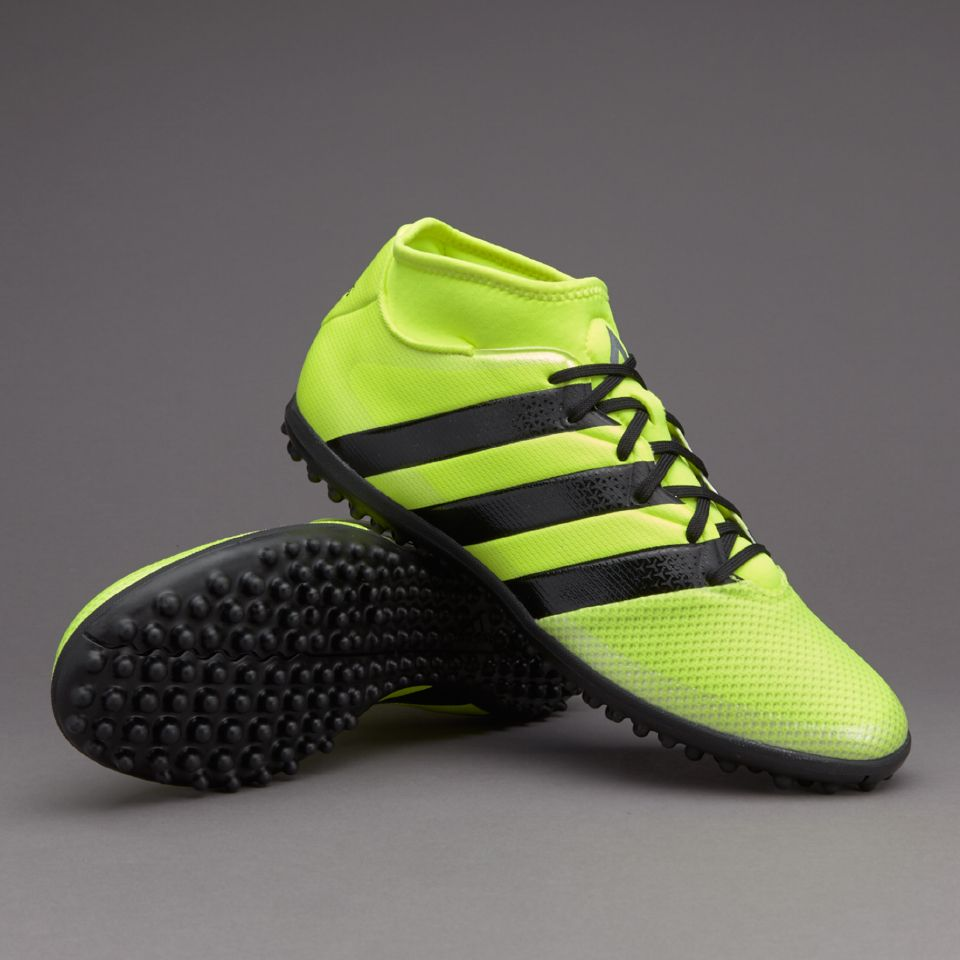 adidas ACE 163 Primemesh TF  Solar Yellow Core Black Silver Metallic Mens  Football BootsMens Soccer