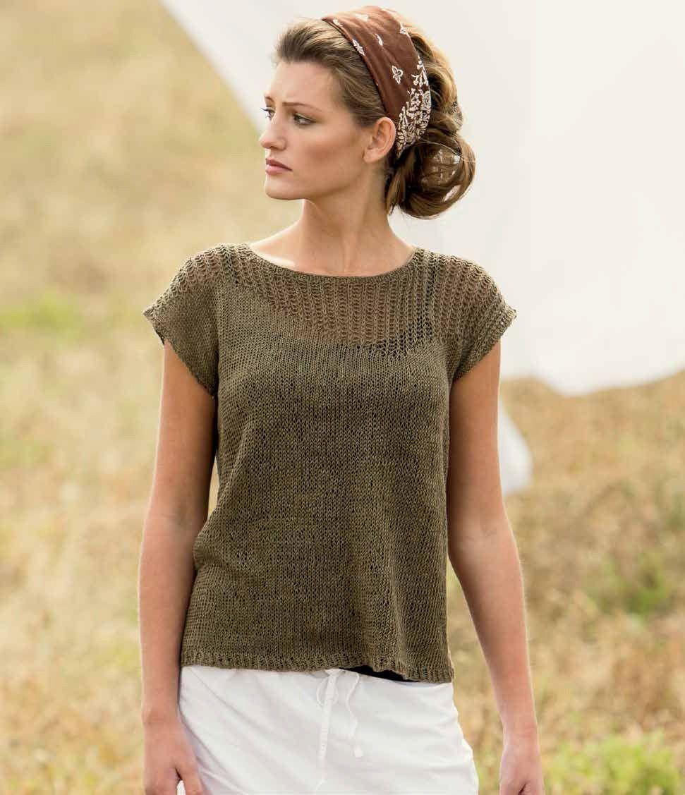 Linum Tee Knitting Pattern Download   Stitch, Patterns and Knit patterns