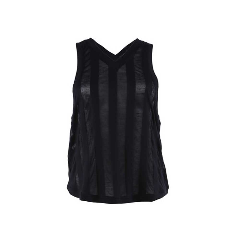 Patti Slouchy tank top zwart/transparant