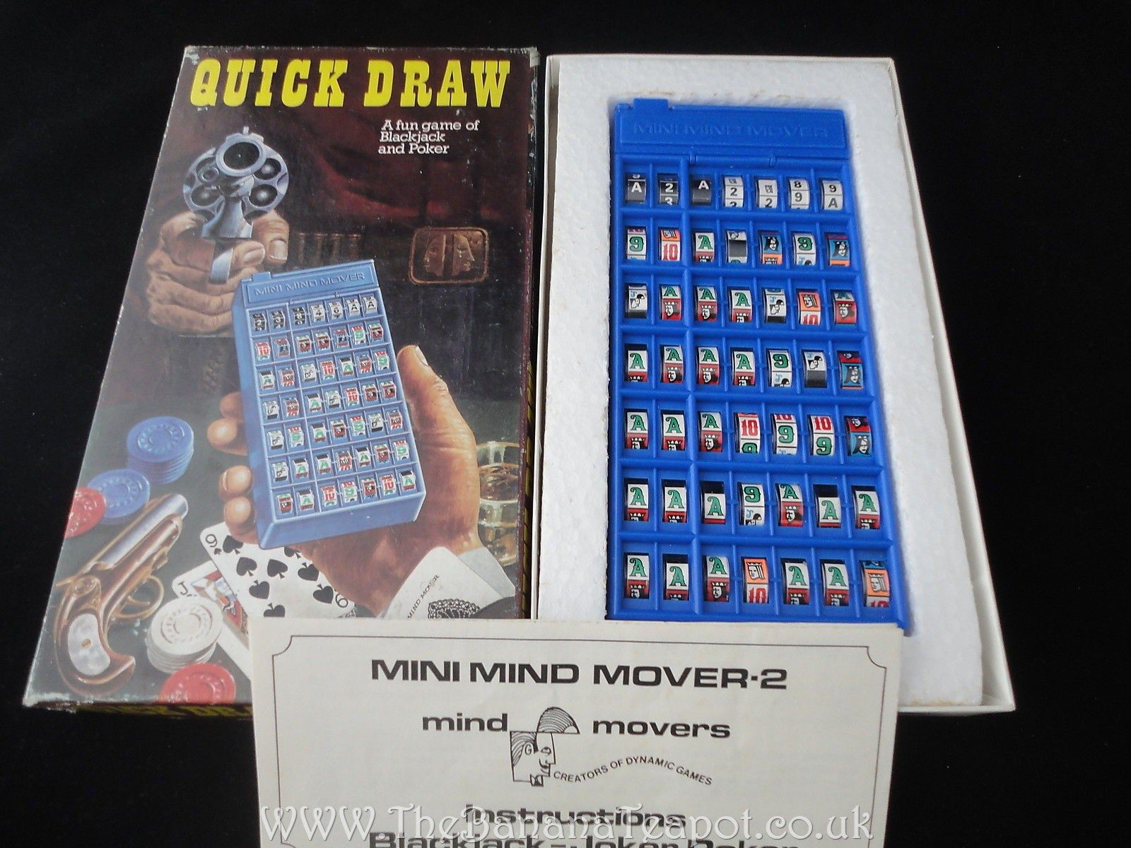 Retro 1974 Mind Movers Quick Draw Game A Fun Game Of Blackjack