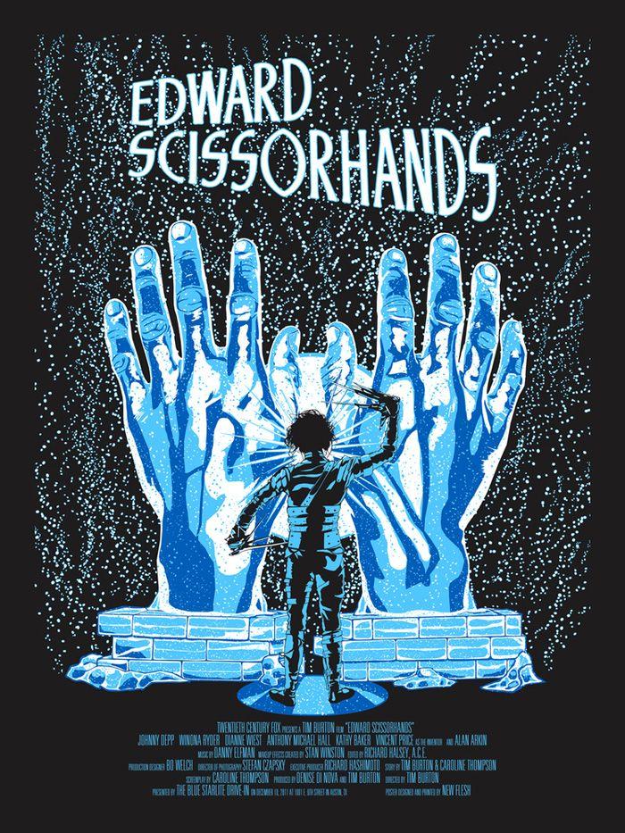 Alternative Movie Poster For Edward Scissorhands By N E Edward