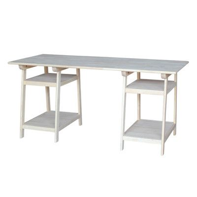 found it at wayfair solid wood trestle desk yvonne s room desk rh pinterest com