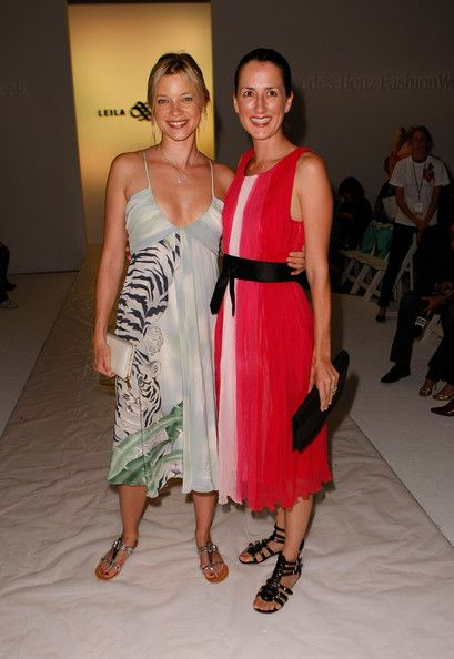 Anna Getty In Leila Hafzi Mbfw 09 Front Row Amy Smart