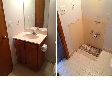 here is how to remove an old bathroom vanity do it yourself rh pinterest com