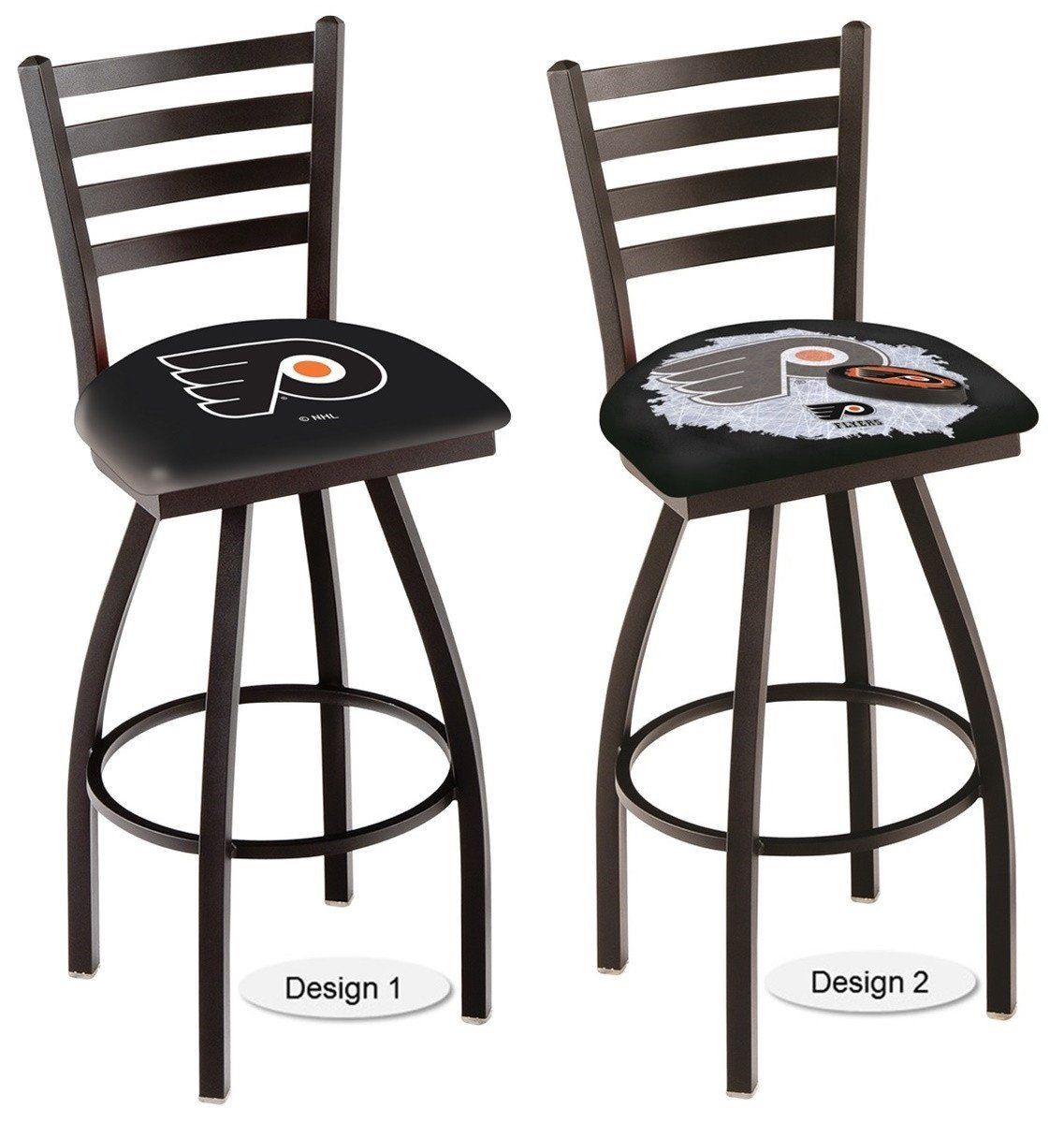 The Officially Licensed Nhl Philadelphia Flyers Bar Stool Carries A Defined Black Ladder Style