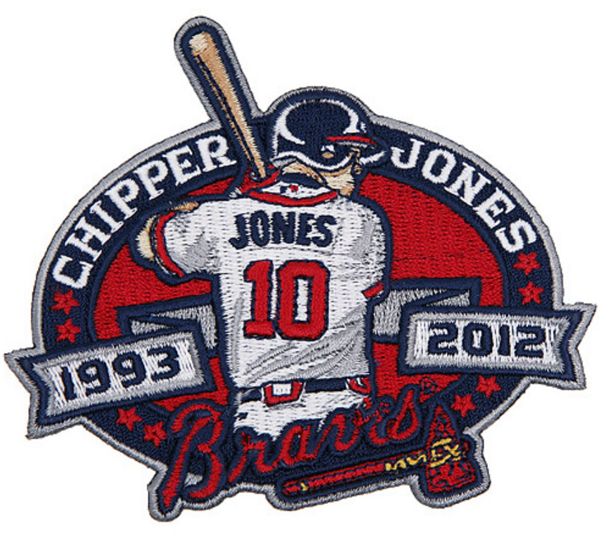 Chipper Jones Jersey Patch Chipper Jones Atlanta Braves Braves