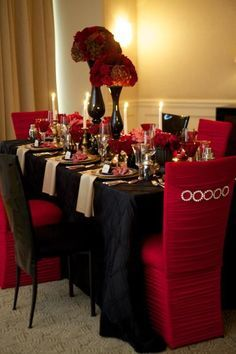 Image result for red black.plaid formal gala decor | Event Decor ...