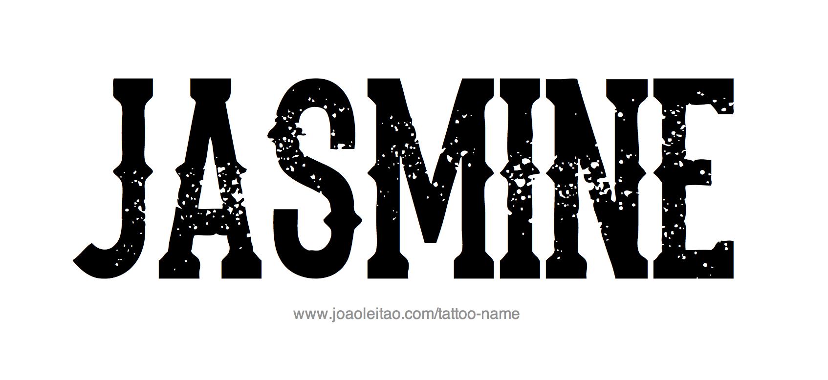 Graffiti Jasmine Name Tattoo Designs