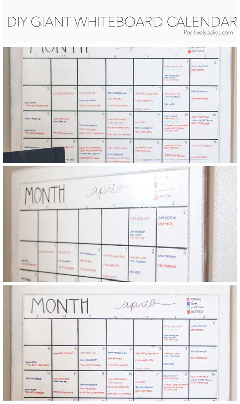 Diy Whiteboard Calendar Diy Whiteboard Whiteboard Calendar