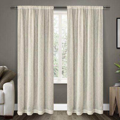 Laurel Foundry Modern Farmhouse Baillons Solid Sheer Rod Pocket Curtain Panels Home Curtains Rod Pocket Curtains Curtains