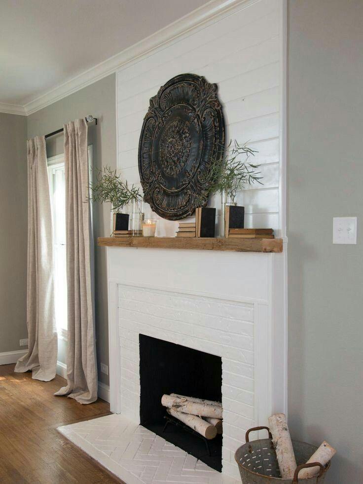fireplace design shiplap painted brick i have an hgtv problem rh pinterest com