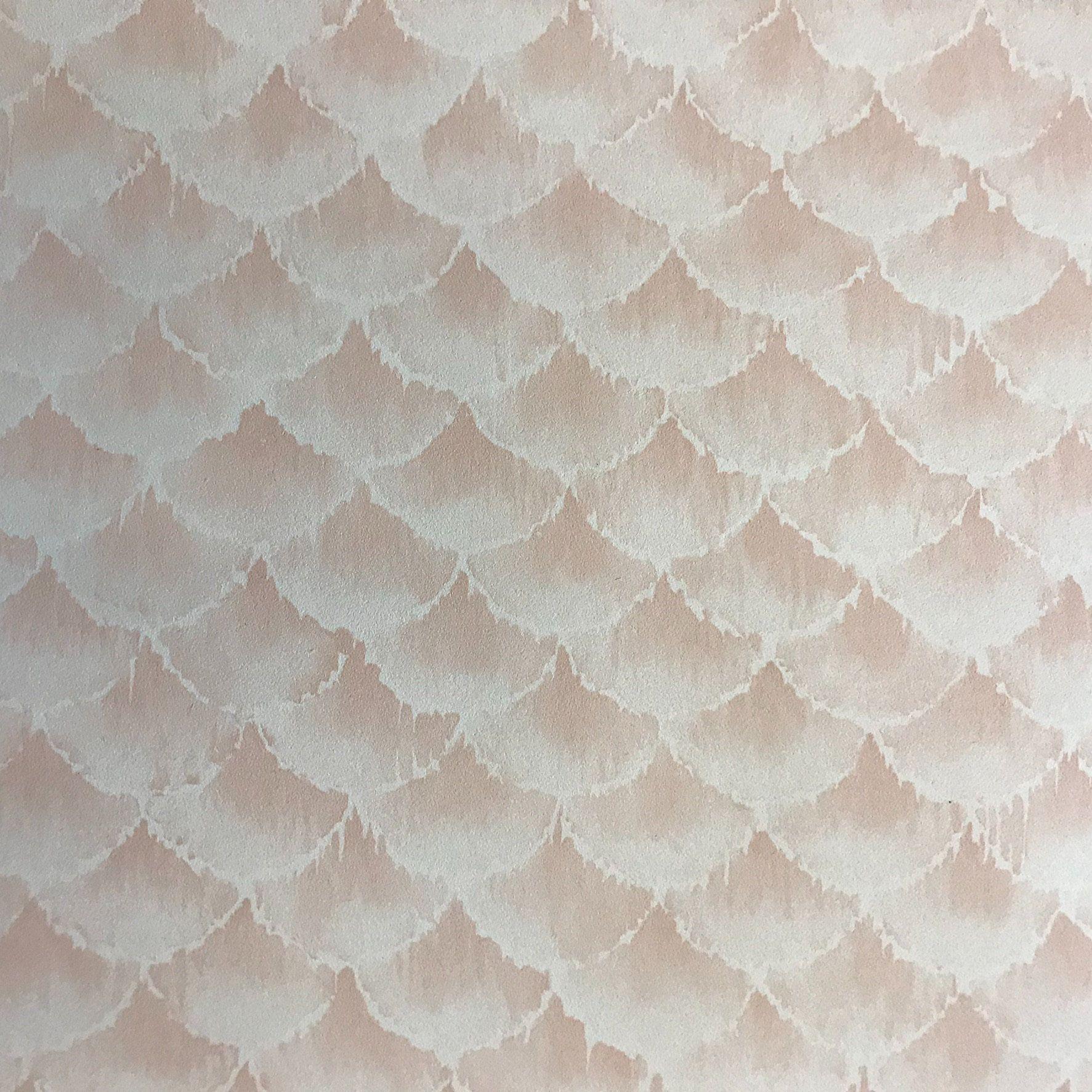 Vintage Pink Wallpaper 80s Wallpaper Vinyl Wallpaper
