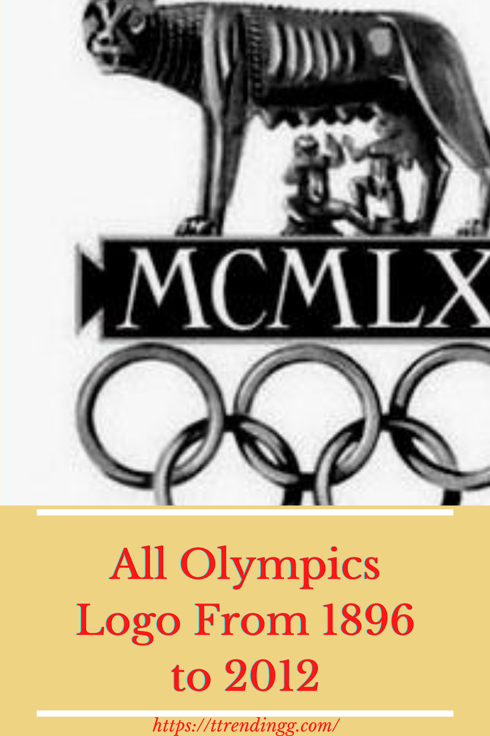 All Olympics Logo From 1896 to 2012 in 2020 Olympic logo