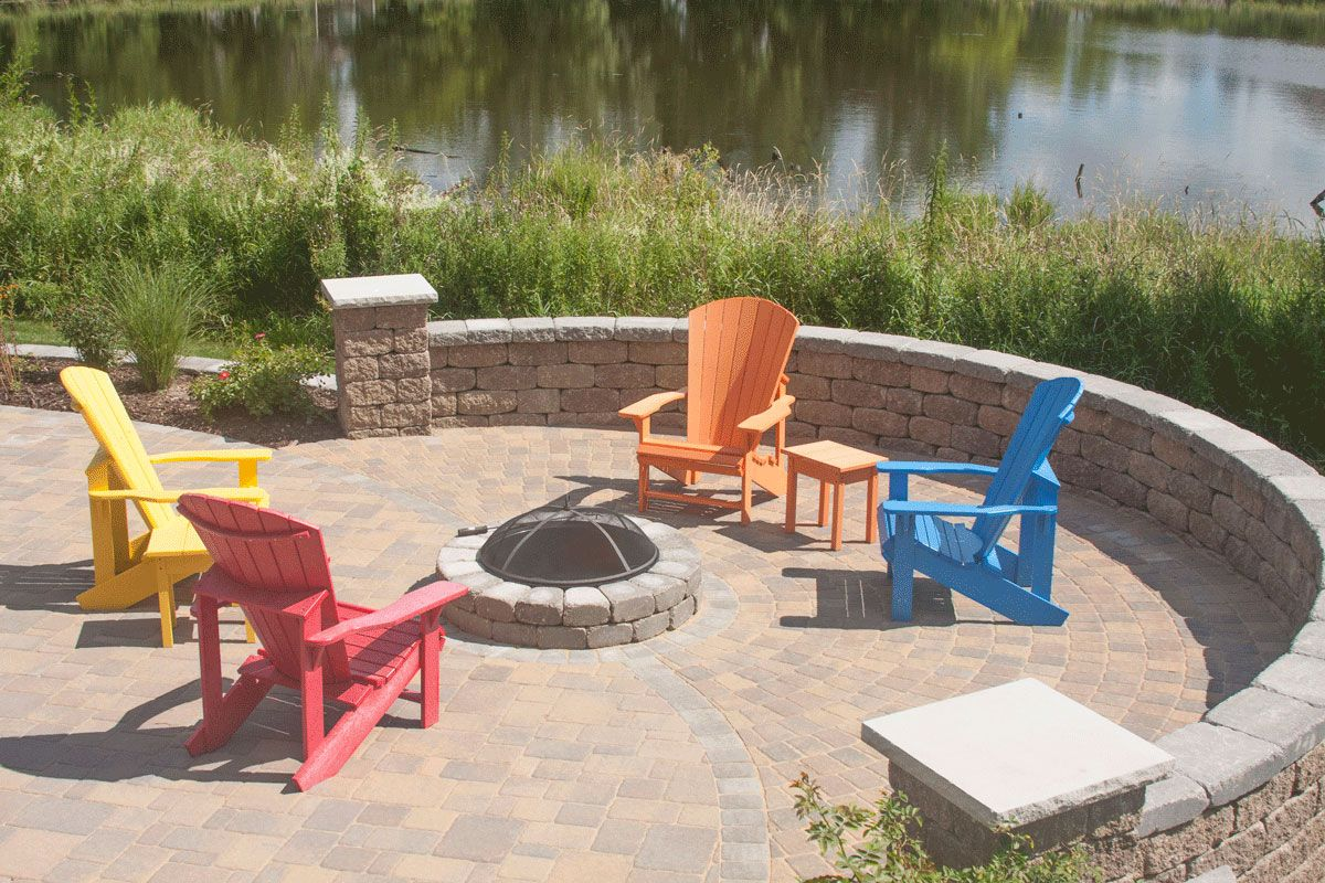bright outdoor furniture looks great around the fire ring lake rh pinterest com