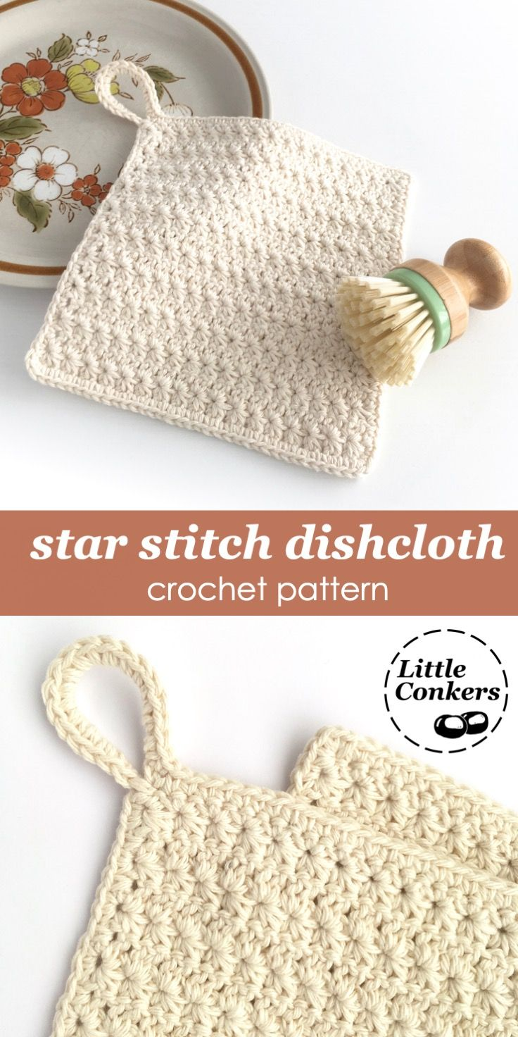 Star Stitch Crochet Dishcloth Pattern