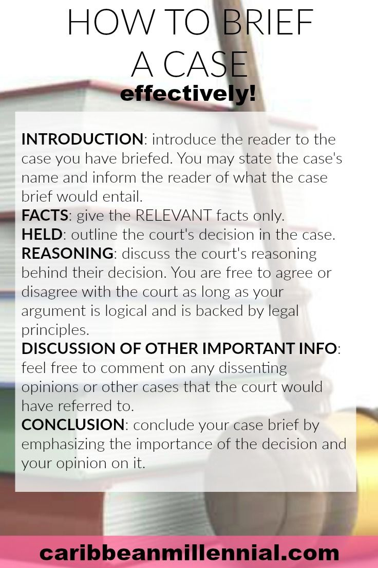 How to Brief a Case (With images) Law school, Law school