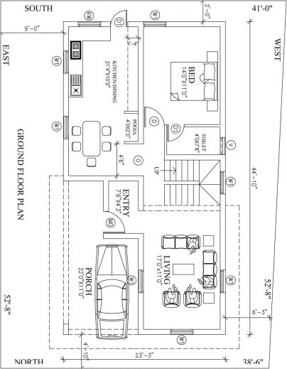 Home Plan North : Awesome North Facing House Vastu Plan