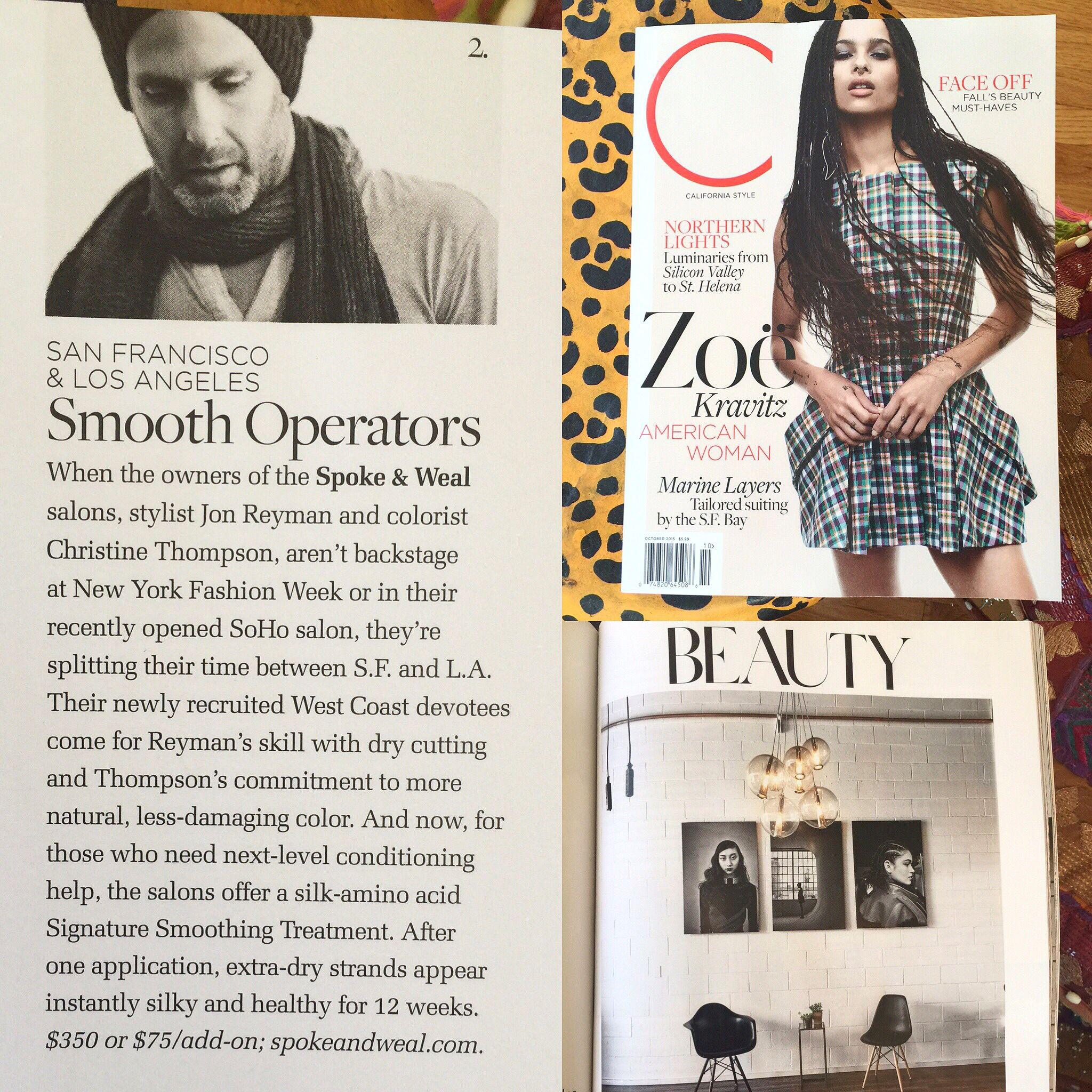 spokeandweal featured in C Magazine's October Issue