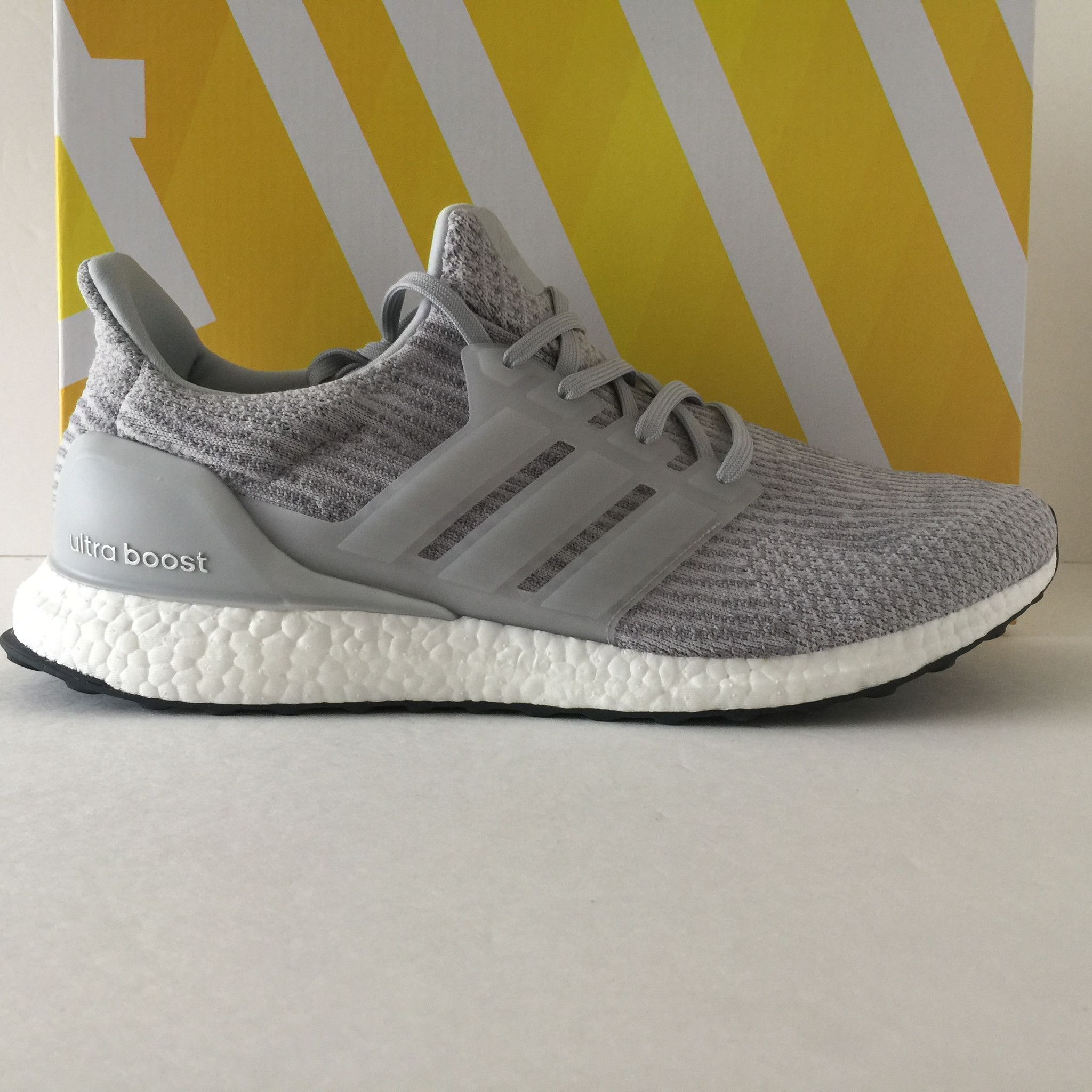 DS Adidas Ultra Boost 3.0 Clear Grey Size 14