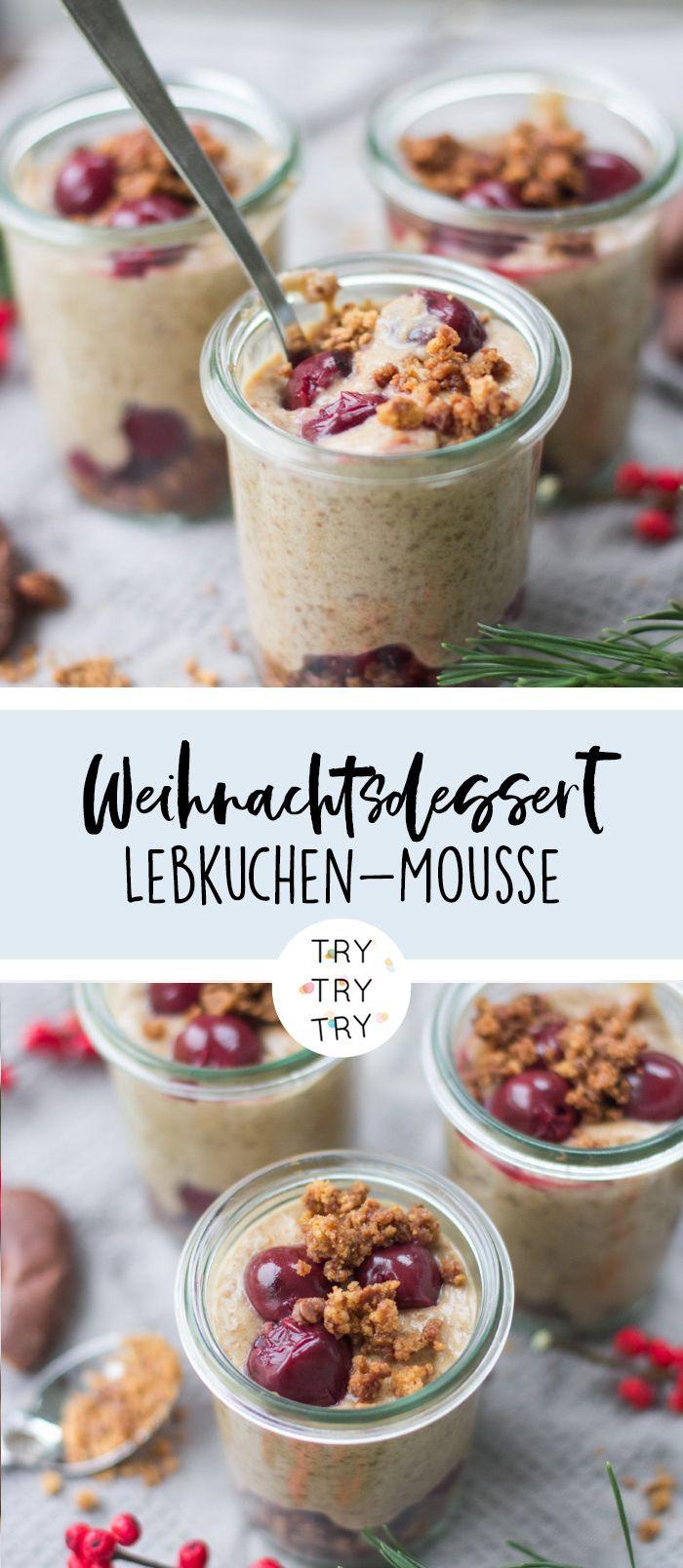 Weihnachtliches Dessert: Lebkuchen-Mousse