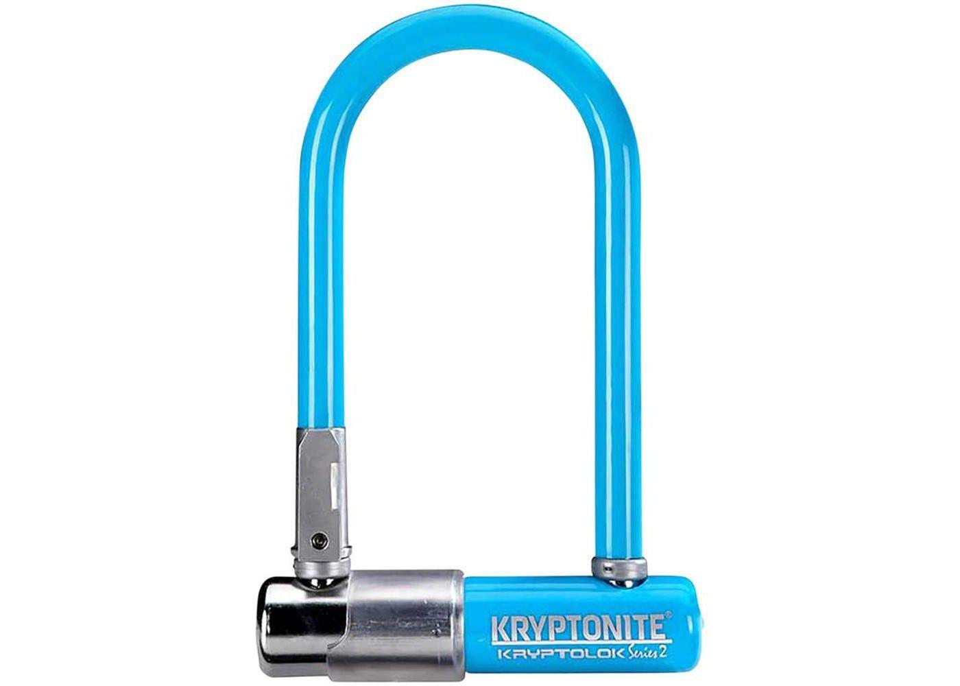 Kryptonite Krypto Series 2 Mini-7 U-Lock - 3.25 x 7 Keyed Blue Includes bracket #Affiliate #Mini, #Aff, #Lock, #Series