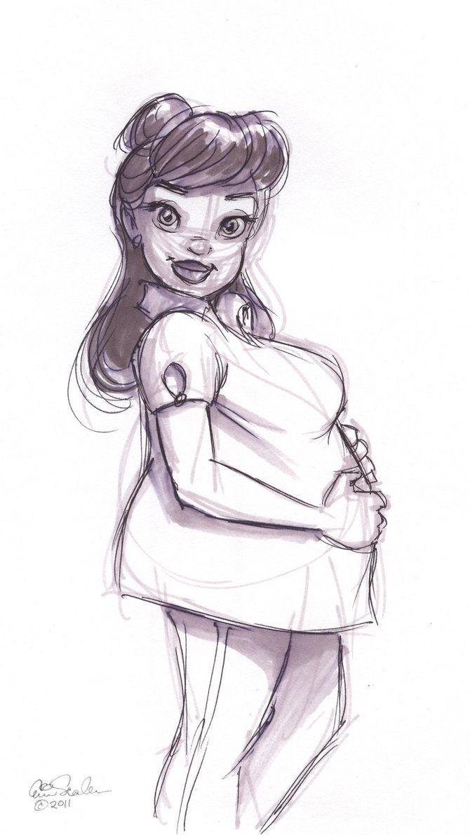 Cute pregnant brunette by ProgressiveCarousel