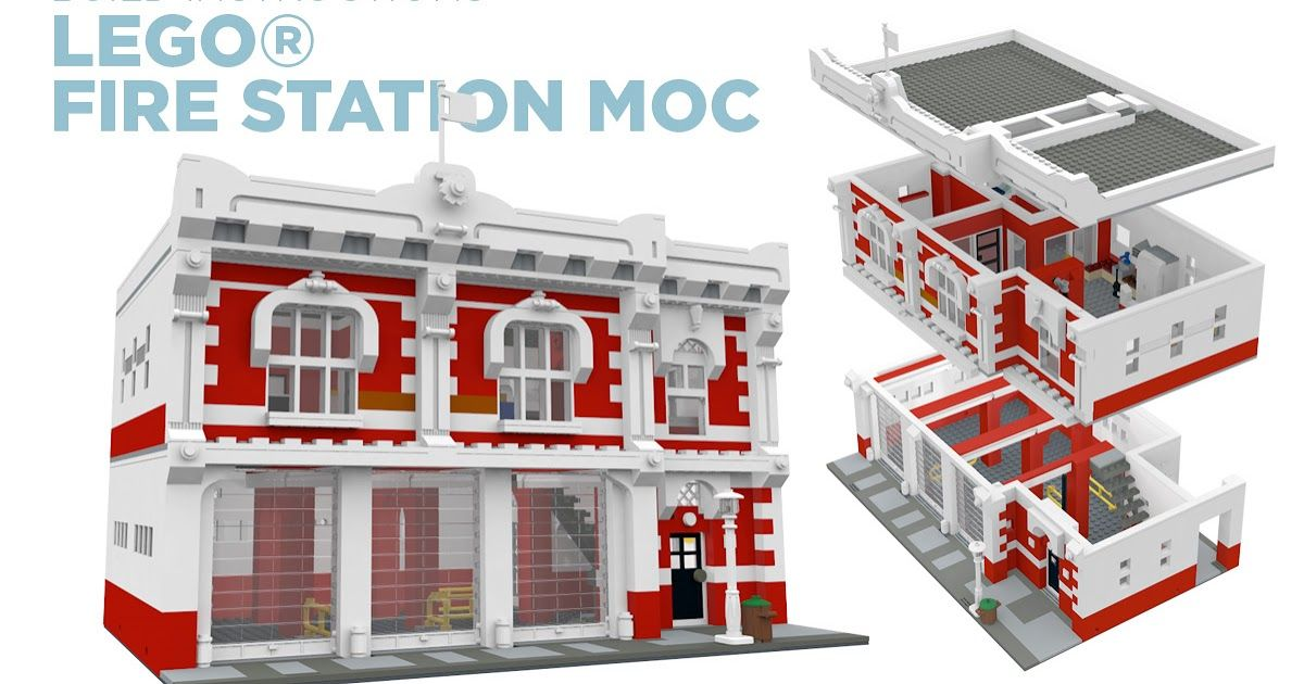 Build The Lego Fire Station Moc Build Instructions Release