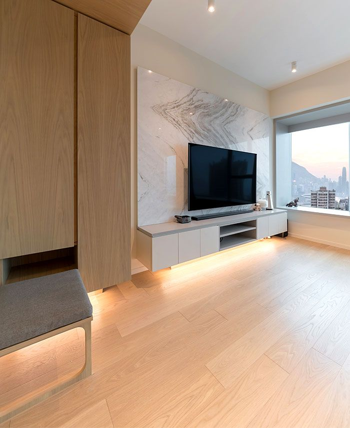 Home Design Ideas Hong Kong:  Hong Kong Apartment With Space-saving Cabinetry By