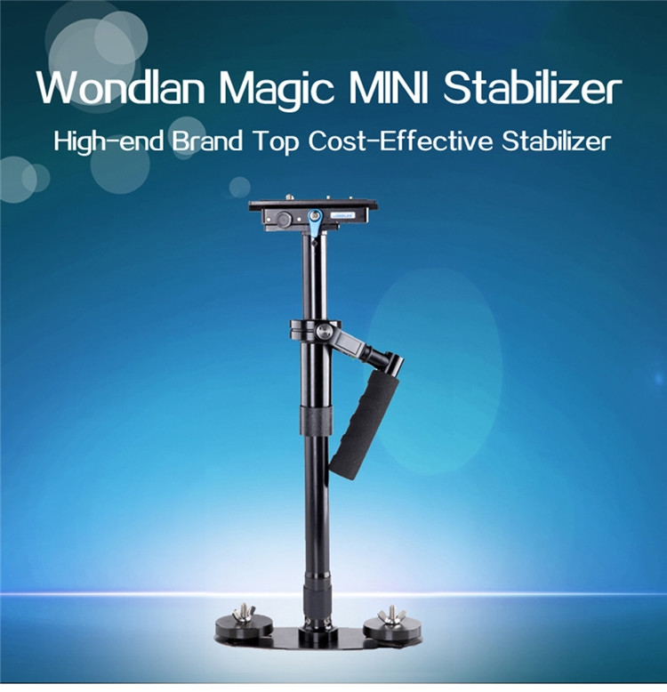 95.00$  Watch here - http://ali4zu.worldwells.pw/go.php?t=32741567346 - WONDLAN MAG204 Mini Handheld Camera Stabilizer for Camcorders DSLR and DVs steadicam s40 s60 camera support