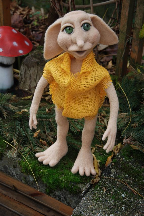 Needle felted house elf https://www.facebook.com/pages/Gandalfs-Beard/220163461396561
