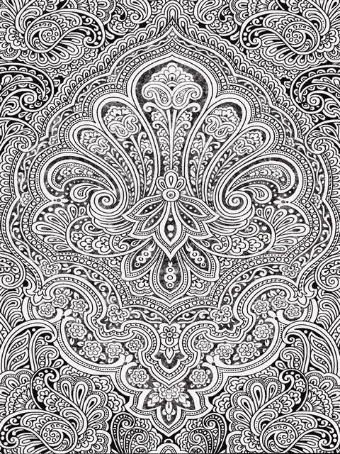 check out this awesome henna inspired floral design we really love the intricate ones adult coloring pagescoloring - Intricate Coloring Pages For Adults