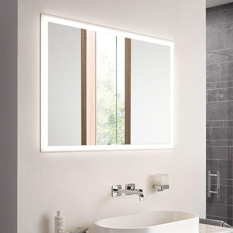 Emco Prime Unterputz LED-Lichtspiegelschrank, 2 Türen aluminium/weiß