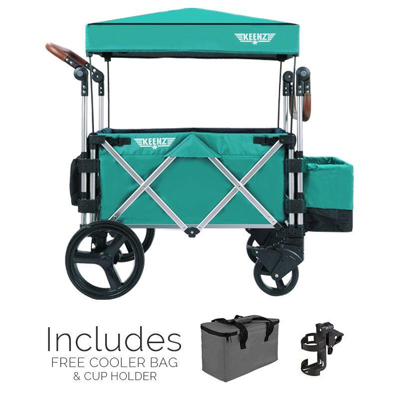 Keenz 7S Stroller Wagon, Teal Baby strollers, Pram