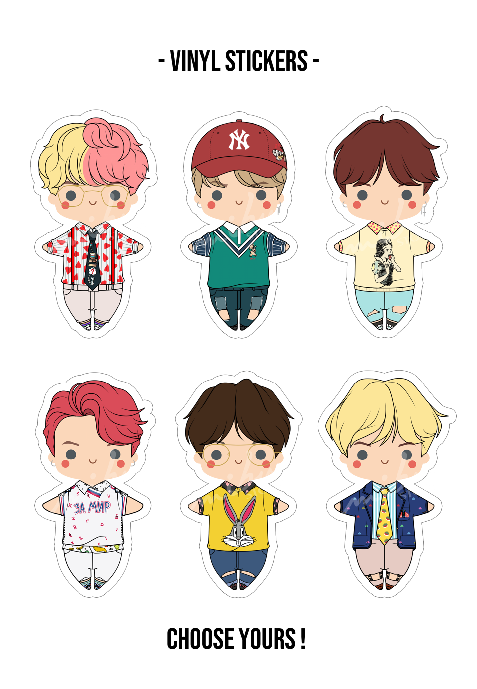 Bts Idol Vinyl Stickers Cute Stickers Print Stickers Bts Chibi