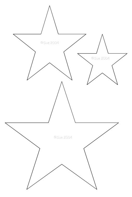 Star Template | Star Template, Magazines And Craft