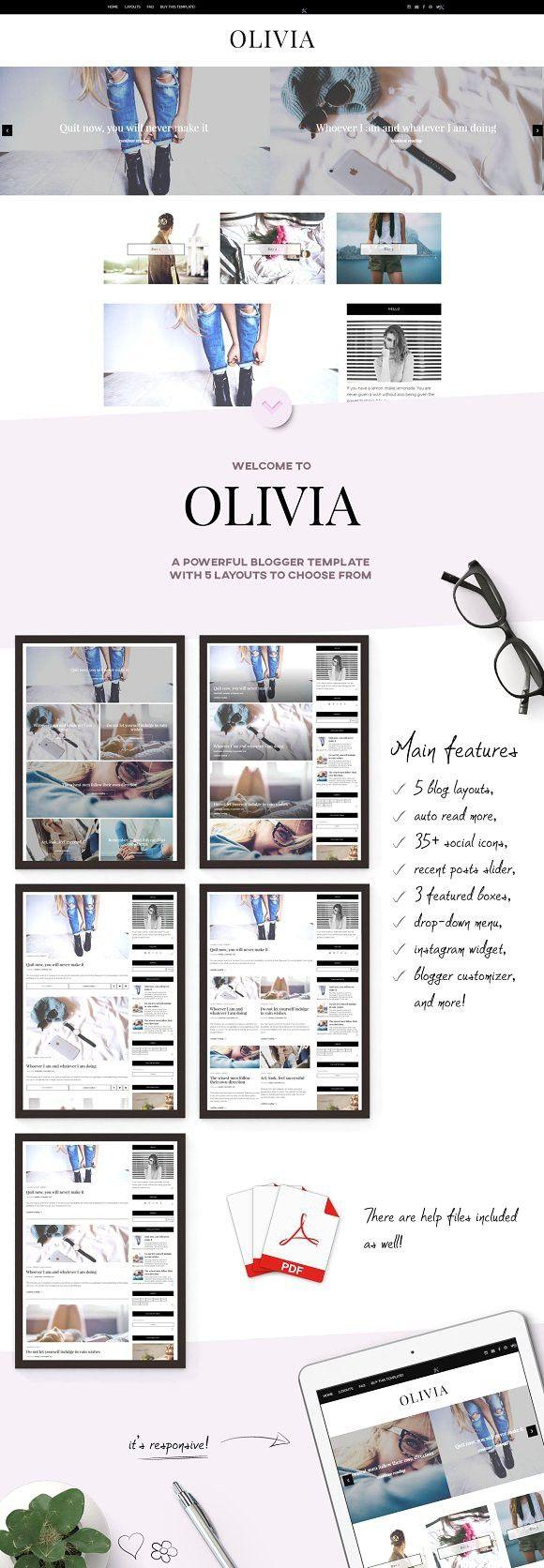 Responsive blogger template olivia blogger templates tumblr and responsive blogger template olivia maxwellsz
