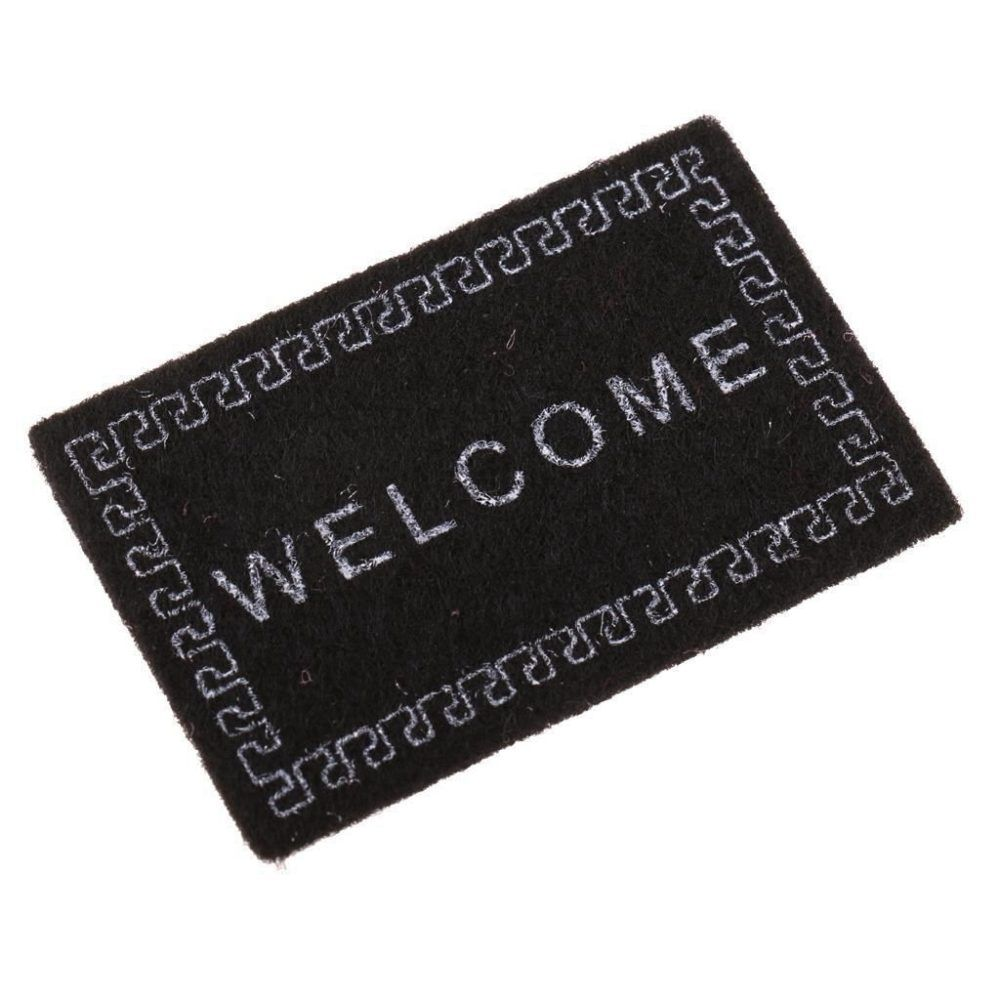 ABWE Best Sale Doll House Miniature carpet WELCOME Mat Dollhouse Accessories Home & Living 1/12 Scale doormats #dollhouseaccessories