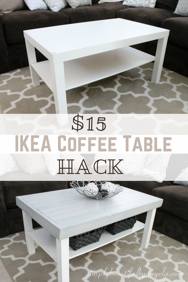 simply beautiful by angela ikea lack coffee table hack great idea thursdays pinterest. Black Bedroom Furniture Sets. Home Design Ideas