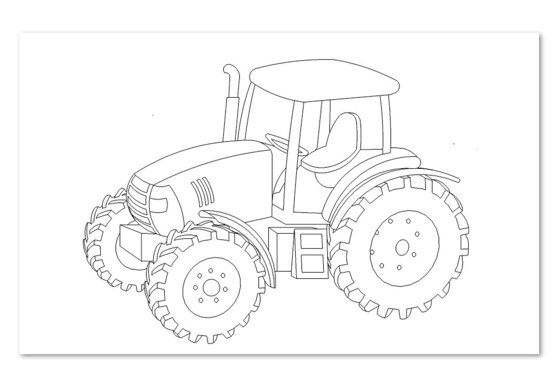 kleiner roter traktor malvorlagen | art