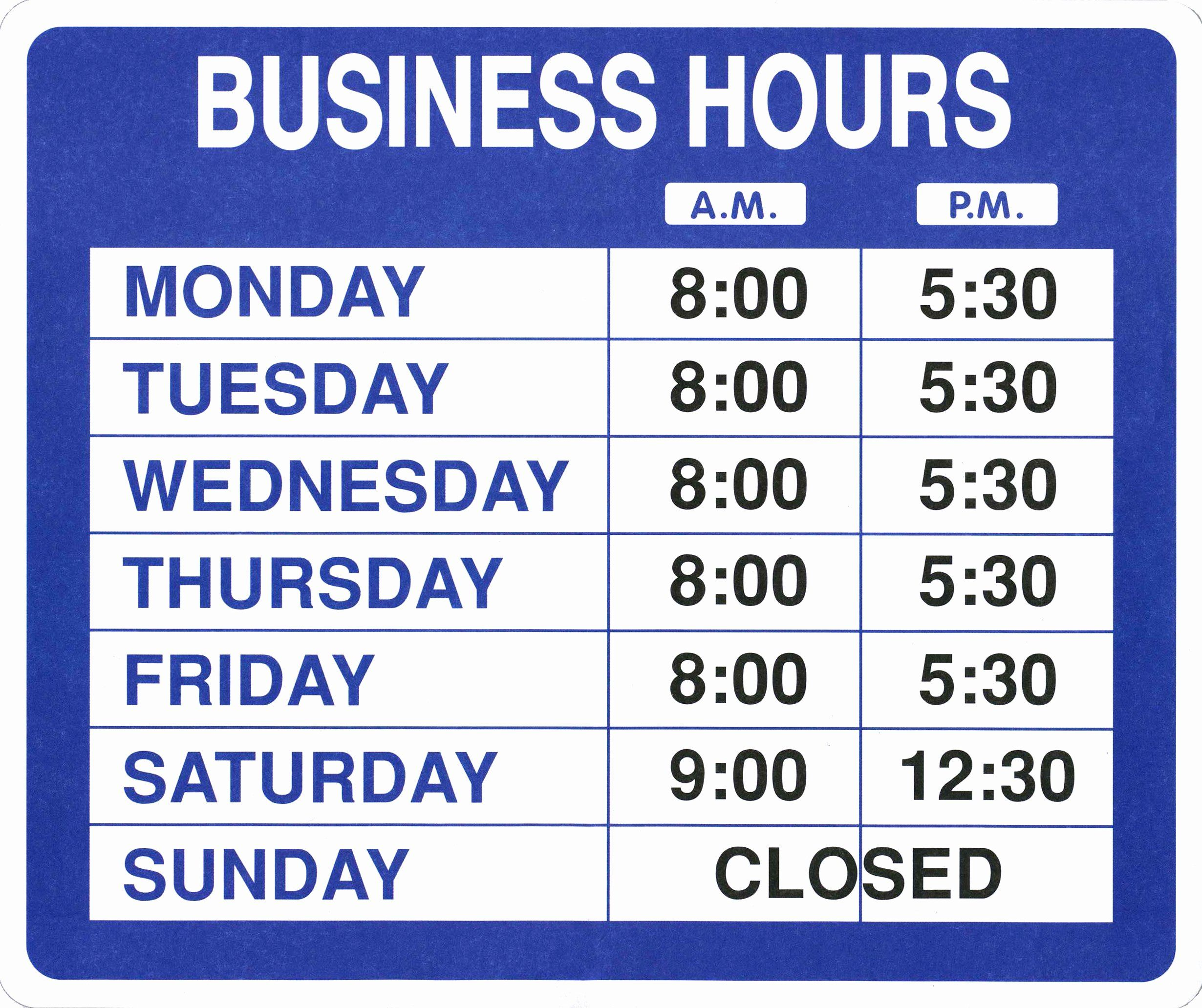 Business Hours Sign Template Free Awesome Garveyproducts Line Shopping For Labelers Taggers Microsoft Office Word Office Word Business Hours Sign Business hours sign template free