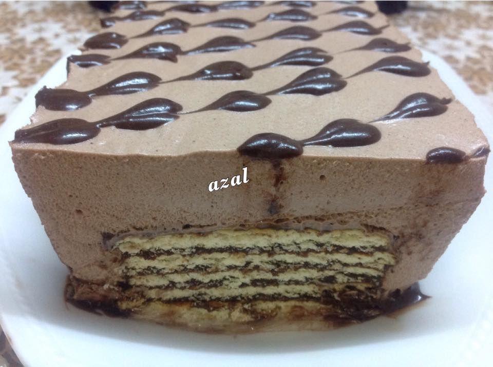 حلى البسكويت على طريقة المطاعم زاكي Cold Cake Desserts Food