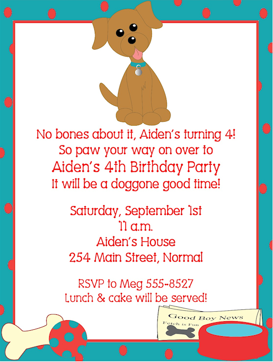 Free Dog Birthday Invitations Ideas