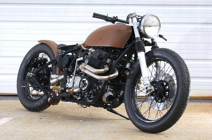 brown cb750 with nice exhaust. | honda cb series | pinterest