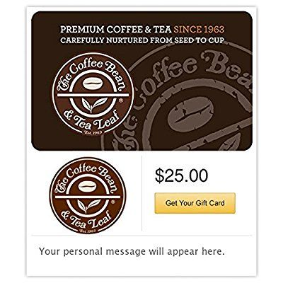 The Coffee Bean And Tea Leaf Gift Cards E Mail Delivery Discover This Special Product Click The Image Gift Cards Tea Leaves Gift Card Gifts