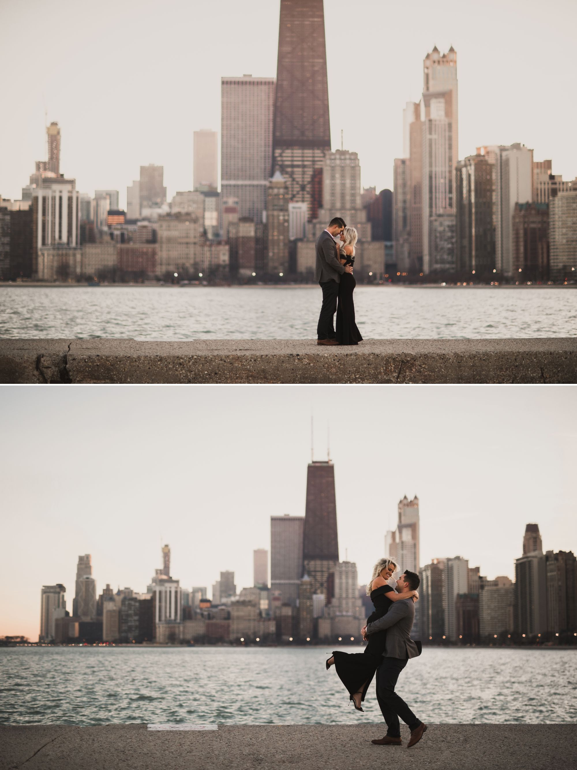 A Romantic Engagement Session In The City Chicago Engagement Photos Engagement Photos Fall Classy Engagement Pictures