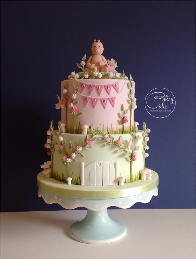 Enchanted Garden Baby Shower Cake Cake By Cakeycake Baby Cake