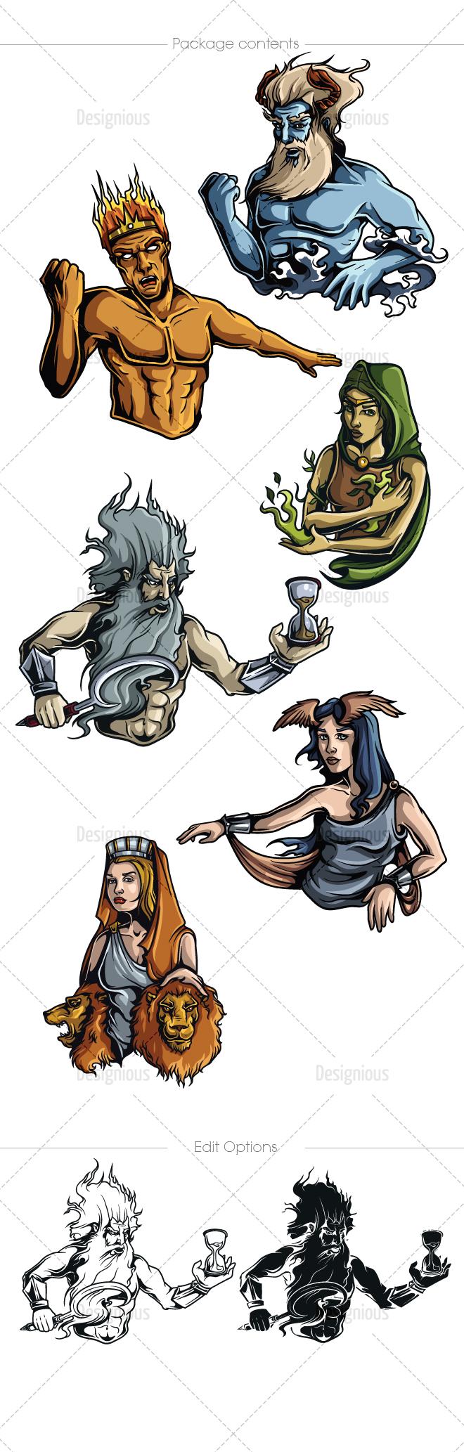 Greek titans symbols choice image symbols and meanings greek titans symbols gallery symbols and meanings greek mythological titans vector pack 1 designious free greek buycottarizona Images